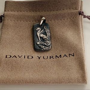 David Yurman Griffin Dog Tag Men's Pendant Silver